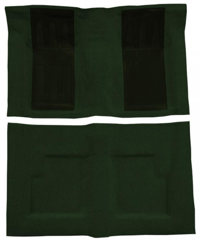 ACC  Ford Torino GT 2DR Convertible Auto with 2 Dark Green Inserts Loop Carpet, 1969-1971