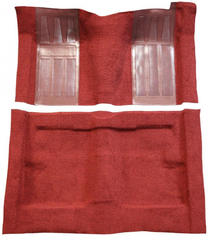 ACC 1969-1971 Ford Torino GT 2DR Hardtop/Fastback Auto with 2 Maroon Inserts Loop Carpet