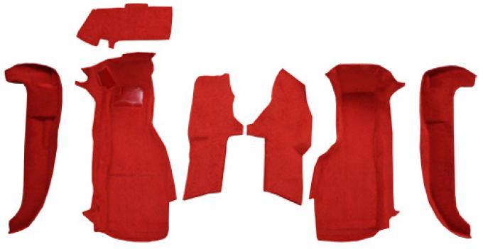 ACC  Chevrolet Corvette Front Set with Pad without Door Panels Cutpile Carpet, 1994-1996