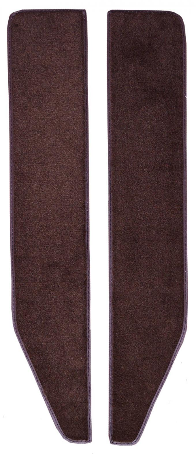 ACC  Ford Bronco Door Panel Front Inserts with Cardboard 2pc Cutpile Carpet, 1978-1979