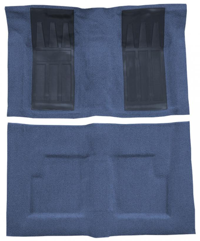 ACC  Ford Torino GT 2DR Convertible Auto with 2 Medium Blue Inserts Loop Carpet, 1969-1971